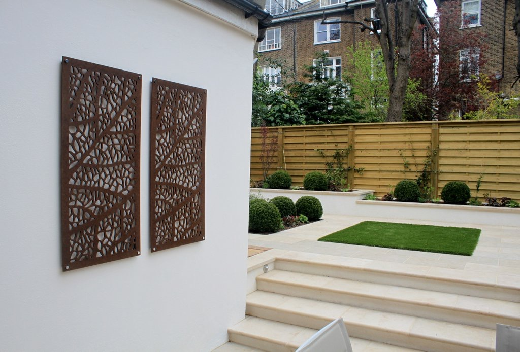 architectural screen on white wall